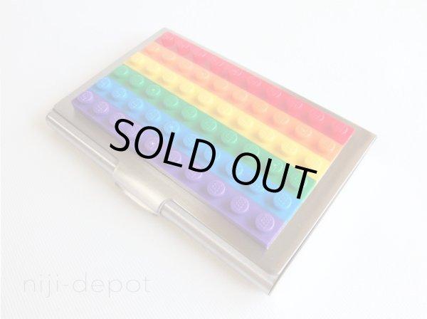 Photo1: Rainbow lego block card holder (1)