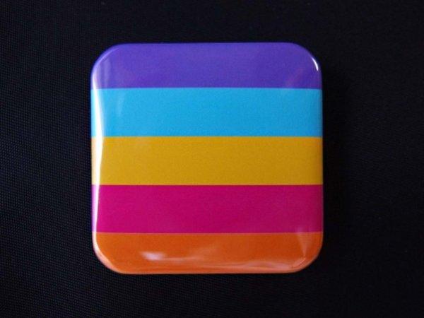 Photo1: Tin badge (Gender non-binary color) (1)