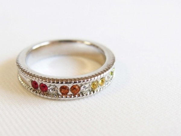 Photo1: Swarovski Half Eternity Ring (Type C) (1)