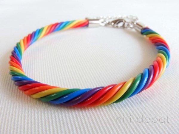 Photo1: Twisted wire bracelet (1)